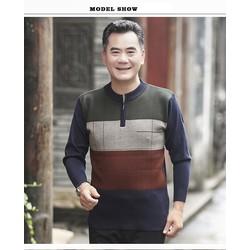 Áo len phối màu cho nam trung niên