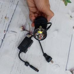 Đèn pha LED bi cầu mini H4 L6K, chỉnh được pha cao