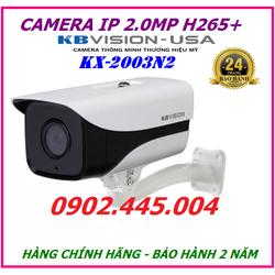 Camera IP 2Mp KBVISION KX-2003N2, chuyên dùng cho đường phố, ngoài trời, nhà xưởng,...