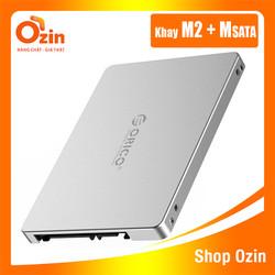 Khay chuyển đổi ổ cứng mSATA- M2 SATA thành ổ 2.5 Box SSD Orico MS2TS hỗ trợ mSATA-M.2 SATA