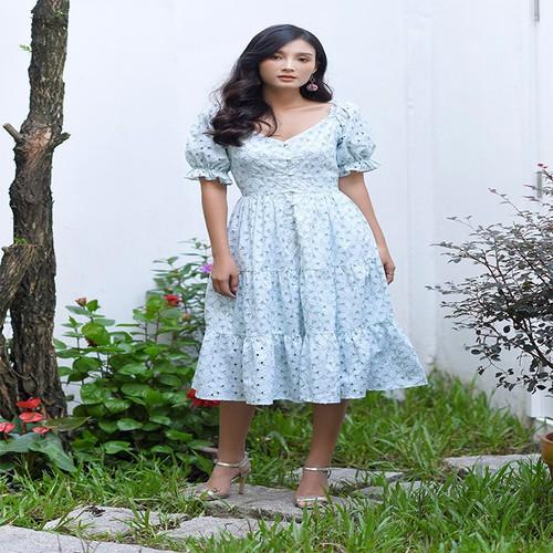 Đầm xòe embroidred dress - 01