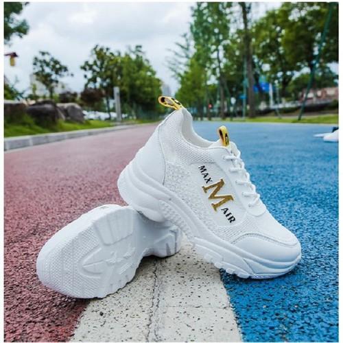 Giày độn nữ trắng tăng 5 phân chiều cao - giày sneaker đế độn chữ m hot hit thời trang - 19276405 , 24297476 , 15_24297476 , 220000 , Giay-don-nu-trang-tang-5-phan-chieu-cao-giay-sneaker-de-don-chu-m-hot-hit-thoi-trang-15_24297476 , sendo.vn , Giày độn nữ trắng tăng 5 phân chiều cao - giày sneaker đế độn chữ m hot hit thời trang