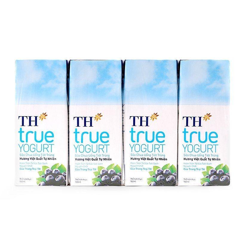 Thanh hóa - lốc 4 hộp sữa chua uống th true yogurt 180ml