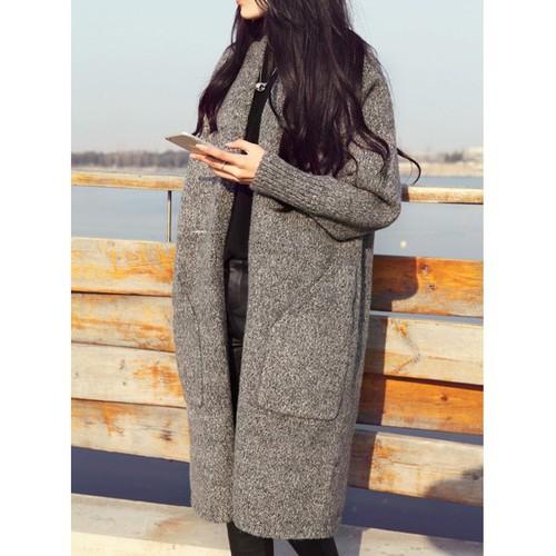 Áo khoác len cardigan dáng dài cho các quý cô - ag67