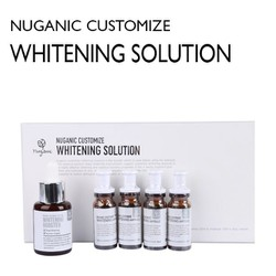 Bộ mỹ phẩm chăm sóc da chuyên sâu Nuganic Customize Whitening Solution Essence 30ml & Ampoule 10mlx4ea