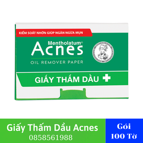 Giấy Thấm Dầu Acnes Oil Remover Hộp 100 Tờ - Giấy Thấm Dầu Acnes - Giấy Thấm Dầu - TLVN457