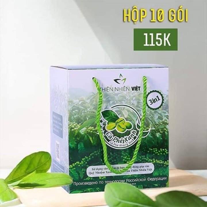 combo 10 Cà phê xanh kháng mỡ thiên nhiên việt -CAFE GIẢM CÂN-CAFE XANH CAO GỪNG - CAFE XANH