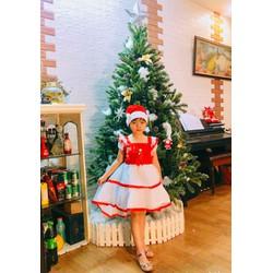 váy đầm Noel 2 tầng  cho bé 7-27kg