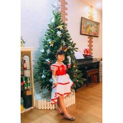 váy đầm Noel kèm mũ hoặc bờm cho bé 7-27kg