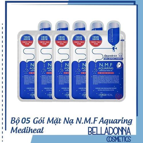 Bộ 5 mặt nạ dưỡng ẩm, kiềm dầu mediheal. n.m.f aquaring ampoule mask ex 25ml x 5 - 21149093 , 24313587 , 15_24313587 , 129000 , Bo-5-mat-na-duong-am-kiem-dau-mediheal.-n.m.f-aquaring-ampoule-mask-ex-25ml-x-5-15_24313587 , sendo.vn , Bộ 5 mặt nạ dưỡng ẩm, kiềm dầu mediheal. n.m.f aquaring ampoule mask ex 25ml x 5