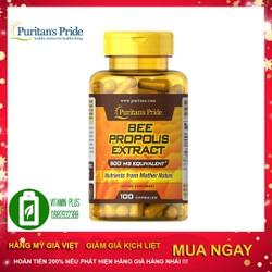 Thực phẩm chức năng Puritan's Pride Bee Propolis 500mg hỗ trợ các bệnh viêm, nhiễm, gan, đại tràng