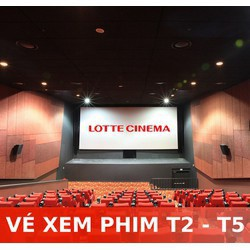 Evoucher Lotte Cinema - Vé xem phim các ngày trong tuần thứ 2 - thứ 5