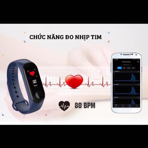 Vòng đeo tay thông minh m3 theo dõi sức khỏe, báo cuộc gọi ,tin nhắn - 19574683 , 24348872 , 15_24348872 , 299999 , Vong-deo-tay-thong-minh-m3-theo-doi-suc-khoe-bao-cuoc-goi-tin-nhan-15_24348872 , sendo.vn , Vòng đeo tay thông minh m3 theo dõi sức khỏe, báo cuộc gọi ,tin nhắn