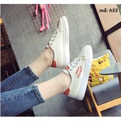 giày thể thao nữ màu trắng giày thể thao nữ đế cao giày nữ trắng