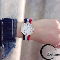 Đồng hồ thời trang nam nữ Geneva dây dù trẻ trung ZO65