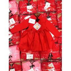 Váy công chúa Màu Sắc ĐỎ mặc tết cho bé xinh xắn
