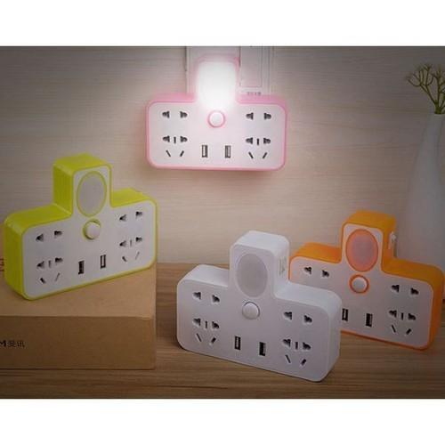Chia ổ điện kiêm đèn ngủ có 2 usb sạc đt - 21187400 , 24366581 , 15_24366581 , 49000 , Chia-o-dien-kiem-den-ngu-co-2-usb-sac-dt-15_24366581 , sendo.vn , Chia ổ điện kiêm đèn ngủ có 2 usb sạc đt