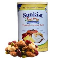 Hạt hạnh nhân, hạt điều sấy khô các loại và trái cây hỗn hợp Sunkist Trail Mix của Mỹ hộp 453gr