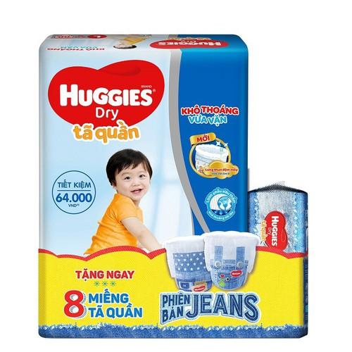 Tã quần huggies pant super jumbo m74-l68-xl62-xxl56