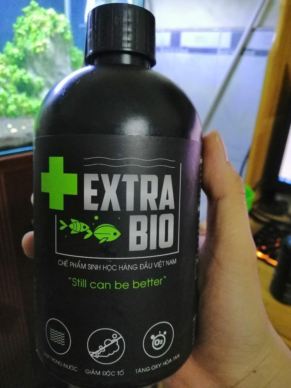 Vi Sinh Làm Trong Nước Bể Cá Cảnh Extra Bio chai dung tích 250ml, 500ml và 1L
