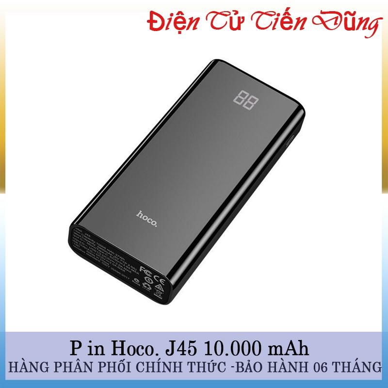 PIN SẠC DỰ PHÒNG HOCO J45 DUNG LƯỢNG PIN 10000mAh có đèn báo pin - pin hoco j45