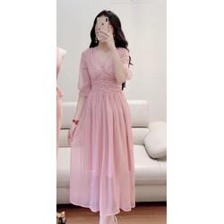 [SIÊU SALE] Đầm xòe vải voan chiffon 2 lớp size M, L, XL,2XL 40-73kg thiết kế cao cấp