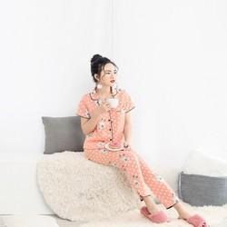 Bộ đồ ngủ pijama Cộc tay quần dài