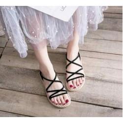 [ HỖ TRỢ PHÍ VẬN CHUYỂN ] Giày sandal đế bệt vân cói cao cấp
