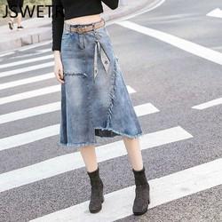 Chân váy jeans rách tua Mã: VN891