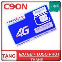 Sim C90N mobifone đầu số 09. Sim C90N mobi tặng 120GB và 1050 phút gọi