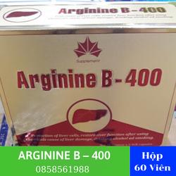 Arginin 400 mg | Arginine B – 400 | Bổ Gan Arginin B 400 Hộp 60 Viên