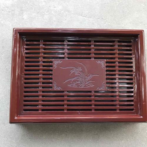 Khay để ấm chén bằng nhựa giả gỗ loại đẹp - 21234474 , 24439588 , 15_24439588 , 115000 , Khay-de-am-chen-bang-nhua-gia-go-loai-dep-15_24439588 , sendo.vn , Khay để ấm chén bằng nhựa giả gỗ loại đẹp