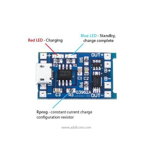 Mạch sạc pin lithium 18650 dòng sạc cao đến 1a có cổng micro usb có bảo vệ pin - 21232854 , 24437496 , 15_24437496 , 24900 , Mach-sac-pin-lithium-18650-dong-sac-cao-den-1a-co-cong-micro-usb-co-bao-ve-pin-15_24437496 , sendo.vn , Mạch sạc pin lithium 18650 dòng sạc cao đến 1a có cổng micro usb có bảo vệ pin