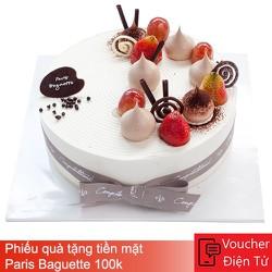 Evoucher - Phiếu quà tặng tiền mặt Paris Baguette 100k