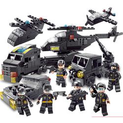 Bộ đồ chơi xếp hình lắp ráp CẢNH SÁT SWAT 500 mảnh ghép kích thích trí thông minh và sáng tạo của trẻ