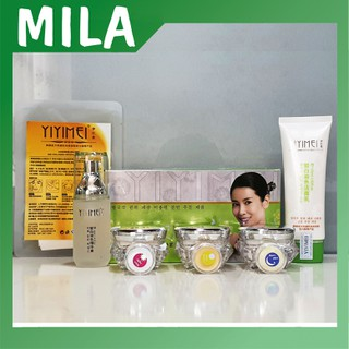 Bộ mỹ phẩm trị nám Yiyimei, mỹ phẩm dưỡng trắng và trị nám tàn nhang Yiyime, có kèm bộ thử và mặt nạ yiyimei. - Bộ Yiyimei 1