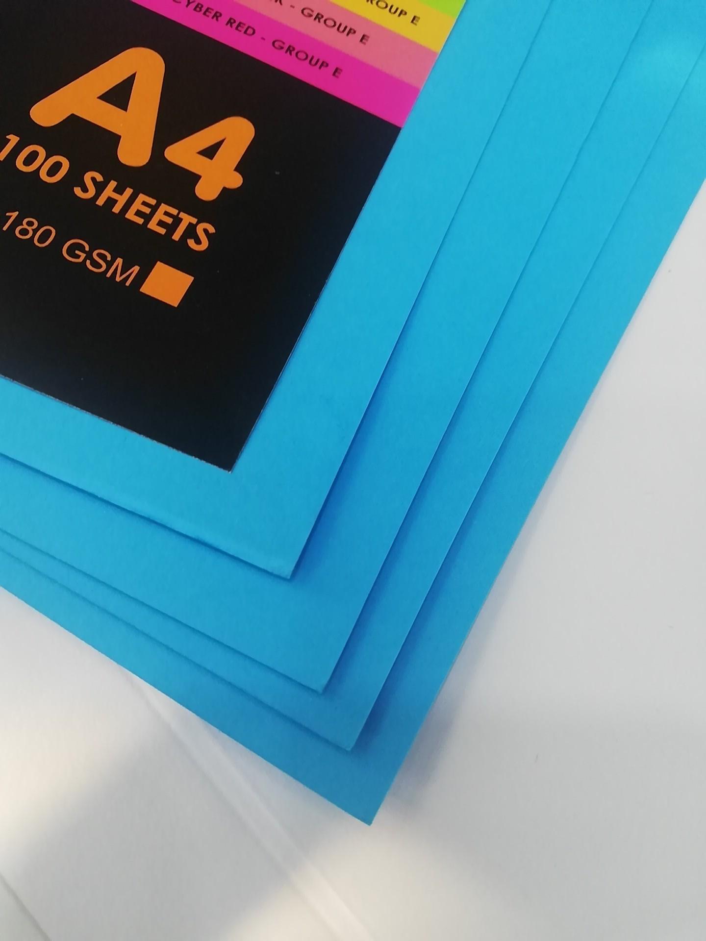 Bìa màu ĐB A4 Pgrand 160gsm  - xanh biển