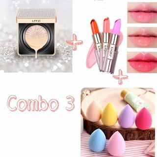 Combo 3 món phấn nước+son môi +bông trang điểm - combo7 thumbnail