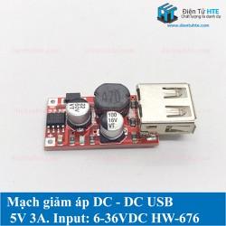 Mạch giảm áp DC - DC 1 cổng USB 5V 3A HW-676