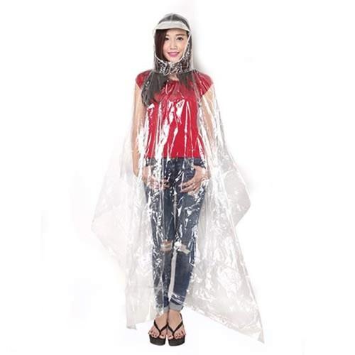 Áo mưa trong suốt nhựa vi sinh 1 đầu Bình Minh