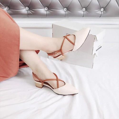 Giày cao gót sandal 5p quai chéo bít mũi màu be - 7083349 , 13818018 , 15_13818018 , 160000 , Giay-cao-got-sandal-5p-quai-cheo-bit-mui-mau-be-15_13818018 , sendo.vn , Giày cao gót sandal 5p quai chéo bít mũi màu be