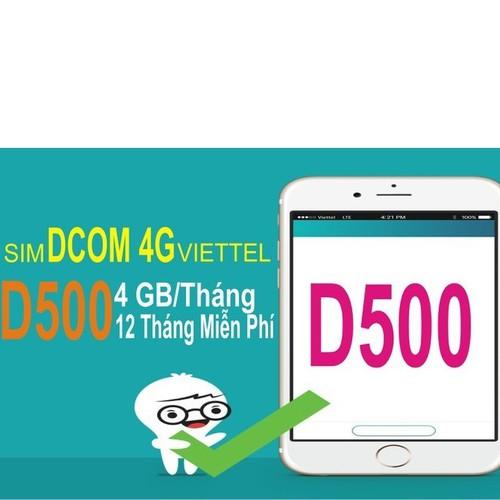 SIM 4G VIETTEL D500