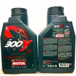 Tem 1 Lớp Châu Á Motul 300V Factory Line Road Racing 10W-40 Made in France 1 Lit