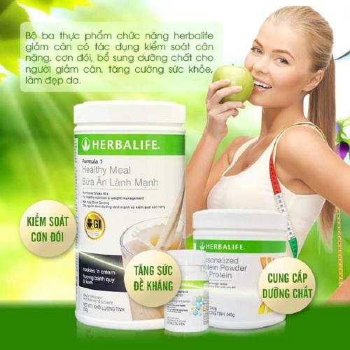 Bộ ba thực phẩm chức năng giảm cân Herbalife cơ bản