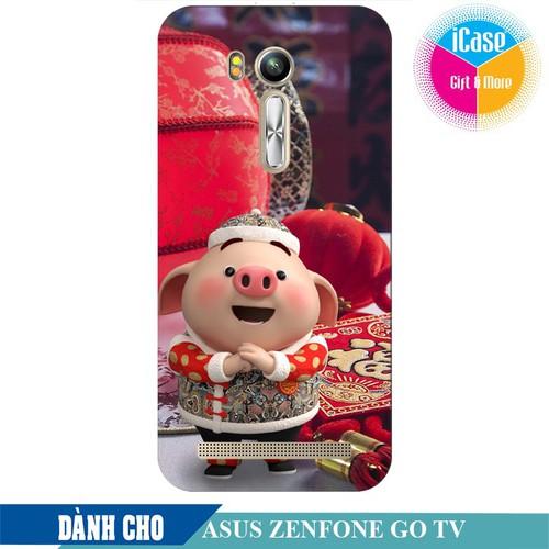Ốp lưng nhựa dẻo dành cho ASUS ZenFone Go TV ZB551KL in hình Heo Con Chúc Tết