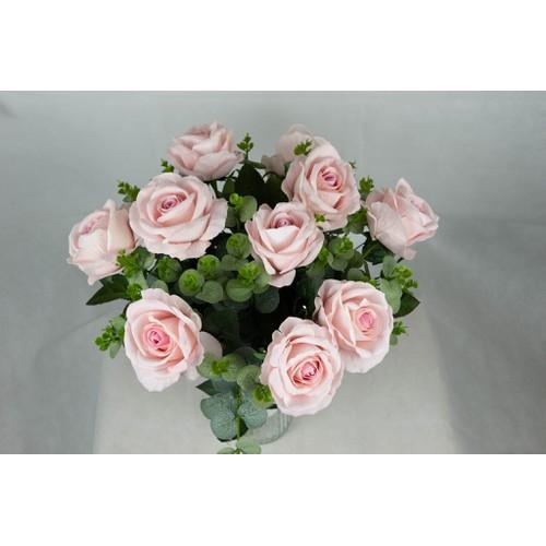 Combo 20 bông hoa hồng phủ nhung màu hồng nhạt