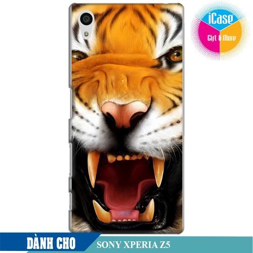 Ốp lưng nhựa dẻo dành cho Sony Z5 in hình Tiger