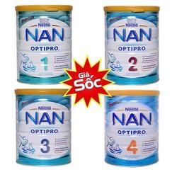 Sữa Bột Nan Nga 1-2-3 Hộp 400gr