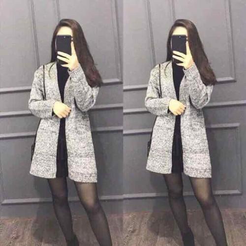 áo khoác 1 màu xám