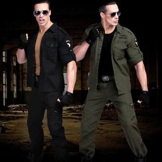Quần áo hộp - Bộ quần áo hộp nam kaki lính mỹ - bộ quần áo ó đen thumbnail